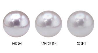 Pearl luster from low to high