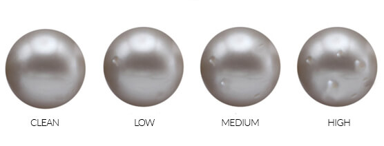 Pearl blemishes from low to high